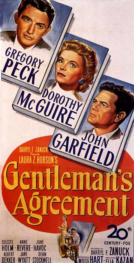 gentlemans agreement review Certified fresh movies and tv shows are certified fresh with a steady tomatometer of 75% or higher after a set amount of reviews (80 for wide-release movies, 40 for.