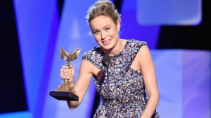 SANTA MONICA, CA - FEBRUARY 27:  Actress Brie Larson accepts the Best Actress award for 'Room' onstage during the 2016 Film Independent Spirit Awards on February 27, 2016 in Santa Monica, California.  (Photo by Kevork Djansezian/Getty Images)